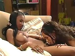 Black girlfriends caress each other black lesbian porn