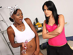 Smooth black lesbian girls have sex party