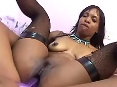 Teen black lesbians lick pussy with honey black lesbian porn