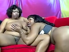 Interracial chicks play with fruits black lesbian porn