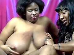 Horny black lesbian dildos beauty on sofa