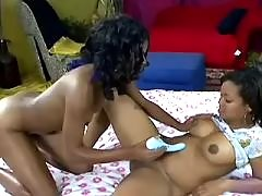 Mature and teenie lick each other